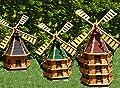 ÖLBAUM XXXL Premium-Windmühle, Massivholz, WMB200ro-MS mit Licht,MIT BELEUCHTUNG, Windmühle mit solar von BTV Ölbaum auf Du und dein Garten