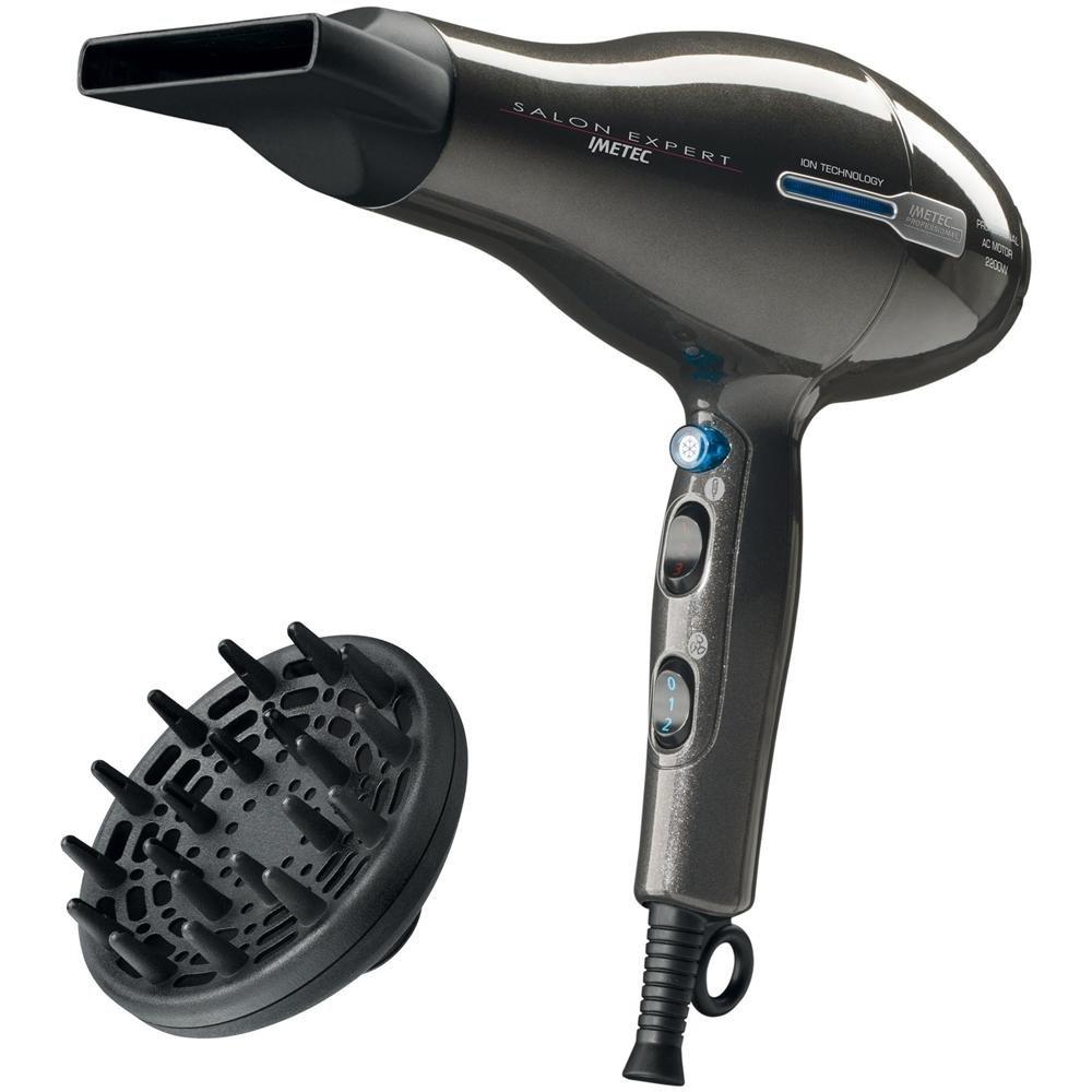 IMETEC P2 2200 Salon Expert Asciugacapelli Professionale Potenza 2200 Watt Colore Nero
