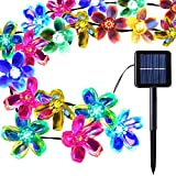 Outdoor Solar Light Garden, Waterproof 50 Blossom Solar Powered Fairy Lights for Christmas, Tree, Home, Holiday, Fence, Yard, Wedding, Party Decoration  Multicoloured, 22FT, 8in1 Mode