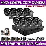ARBUYSHOP Nuovo sistema DVR registrazione 960H 8 channnel con 8pcs Sony IR 1200tvl telecamera di sicurezza esterna del sistema cctv 8ch DVR Kit DVR NVR ONVIF