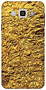 The Racoon Grip shiny foil gold hard plastic printed back case / cover for Samsung Galaxy E7
