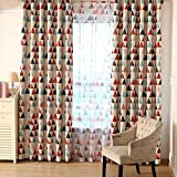 Broadroot Dreieck Sheer Schlafzimmer Wohnzimmer Fenster Tüll Vorhänge Voile Vorhang (2)