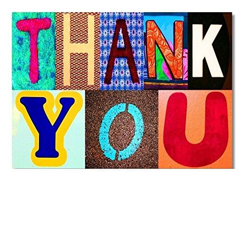 DigitalOase Dankeskarte Danksagung Thank You Danke Grußkarte Format DIN A4 A3 Klappkarte PanoramaUmschlag