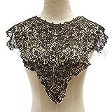 1PCS Trendy Floral Bodice Collar Lace Gu...