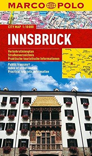 Innsbruck Marco Polo City Map: 1:10 000: Stadsplattegrond 1:10 000 [Lingua Inglese]