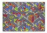 Kinderteppich Game City, Straßenmotiv, in diversen Größen erhältlich, Größe:140 x 200 cm