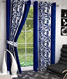 Super India Floral Polyester Window Curt...