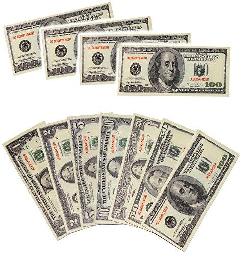 """Preisvergleich Produktbild 357 tlg. Set - Spielgeld - """" Dollar - Scheine """" - $ 1 - 2 - 5 - 10 - 20 - 50 - 100 Noten Blätter / Bündel -Kaufmannsladen Zubehör Kaufladen - Supermarkt - Spielzeug - Spielscheine / Banknoten - Spielzeuggeld / Spielzeugscheine - Banknote - United States of America - Schein - Scherzartikel - Lernen / Spielgeldscheine - Taschengeld - Reise USA / Urlaubsgeld - Flugreise - Geldgeschenk"""