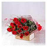 Giftacrossindia Bouquet of Dozen Red Roses For Same Day Delivery