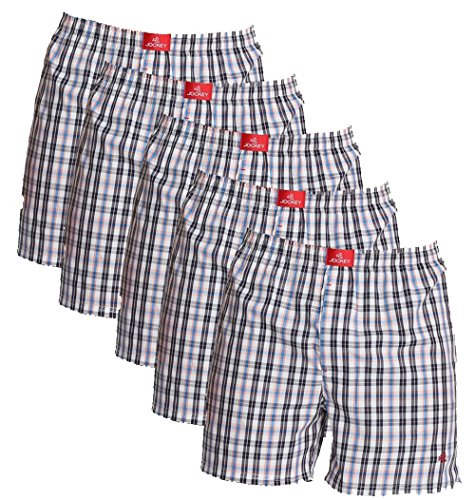 Jockey Boxer Checked Shorts - Assorted Pack Of 5 (colors May Vary)