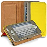 iPhone SE Flip Cover, iPhone 5S Case, VanGoddy Mary PU Leather Case, Slim Flip Cases Cover with Magnetic Closure, Wallet and Kickstand Case for Apple iPhone 5 / 5S / SE (Yellow)