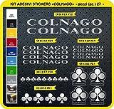 Adesivi Bici COLNAGO Kit Adesivi Stickers 27 Pezzi -Scegli SUBITO Colore- Bike Cycle pegatina cod.0092 (Argento cod. 090)