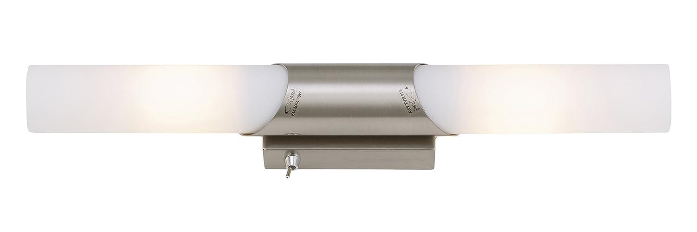 Badlampen für spiegel  Briloner Leuchten 2125-022 Spiegelleuchte Wand, Spiegellampe mit ...