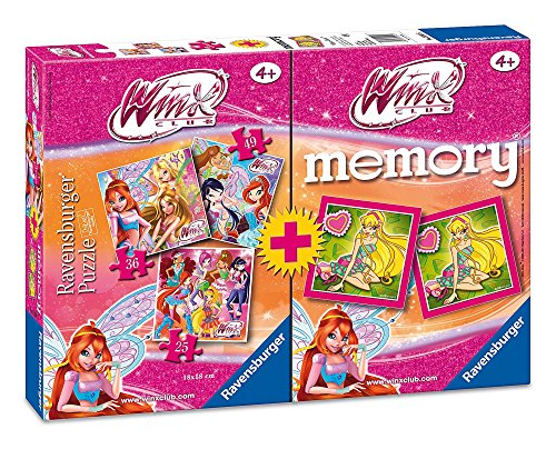 Ravensburger 07342 9 - Winx Multipack, 3 Puzzle + 1 Memory