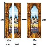 Amphia - 3D kreativer Türaufkleber Papier.Kreative Tür-Aufkleber-Schlafzimmer-Türen-Erneuerung der Tür-3D Wasserdichte Wasserdichte Tür-Aufkleber
