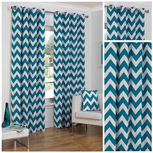 hamilton-mcbride-chevron-teal-ring-top-eyelet-fully-lined-readymade-curtain-pair-46x54in116x137cm-ap