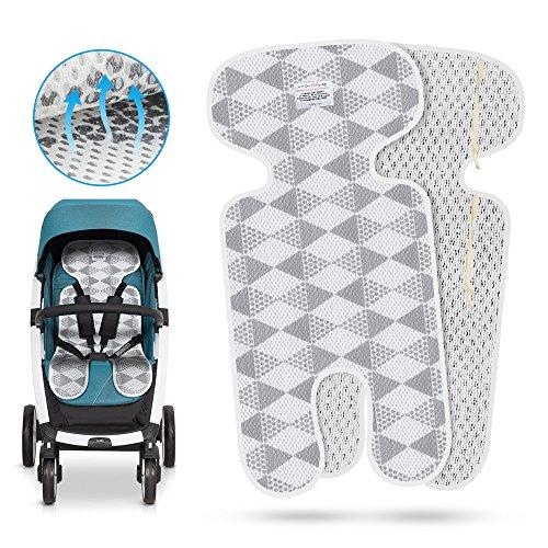 Atmungsaktive Sitzeinlage,Komake Universal Sitzauflage für Kinderwagen, Buggy, Kindersitz und Babyschale -verringert Schwitzen Ihres Kindes und schützt den Sitzbezug vor Flecken