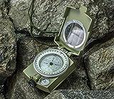 Militär Marschkompass, Earto Kompass mit Tasche, für Wanderung, Camping, Klettern, Rad fahren -