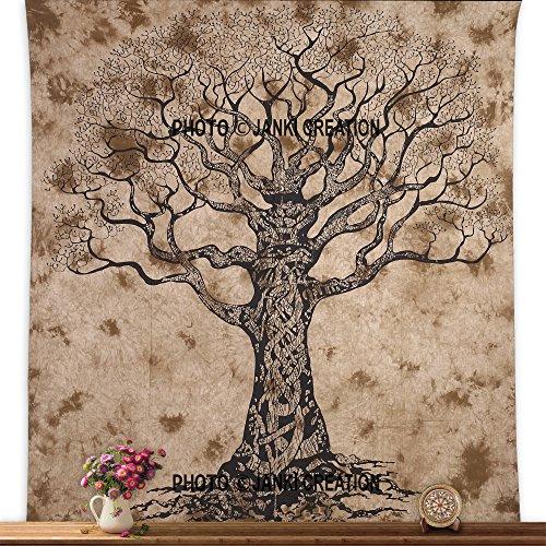 Arazzo da parete, motivo albero della vita, 215,9x 241,3cm, arazzo stile hippy, indiano, bohémien, da appendere alla parete, tappezzeria stile gitano