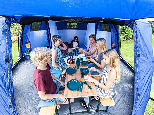 skandika Copenhagen Large 8 Person Man Family Tent with Sewn-in Groundsheet & skandika Copenhagen Large 8 Person Man Family Tent with Sewn-in ...