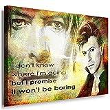 JULIA-ART QN. 55-3 David Bowie Bild auf Leinwand Deko ideen M - Format 70 - 50 cm