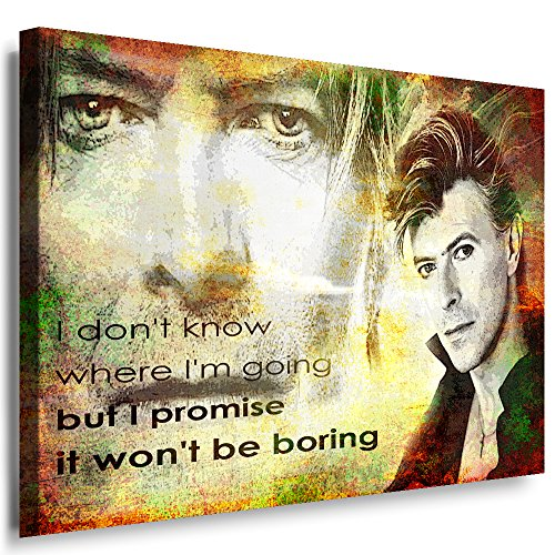 Qn Poster (Julia-art Leinwandbilder - David Bowie Bild 1 teilig - 60 mal 40 cm Leinwand auf Rahmen - sofort aufhängbar ! Wandbild XXL - Kunstdrucke QN.55-2)