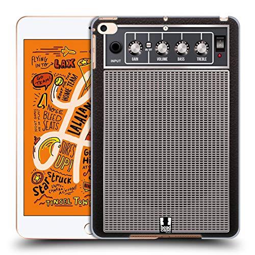 Head Case Designs Blau Verzerrung Gitarrenverstärker Harte Rueckseiten Huelle kompatibel mit iPad Mini (2019)