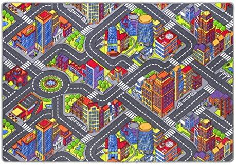Andiamo Le Tapis  s Jeu Jeu Jeu Ville Routes Village, Tapis de Jeux  s Design Urbain, Certificat Gut/Prodis, Taille:200 x 200 cm | Outlet  2edf7b