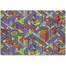 Alfombra de niños Game City, es una de las alfombras de juegos más populares con motivos de calles que garantiza la diversión tanto para niños como para niñas, disponible en varios tamaños, Tamaño:200 x 300 cm