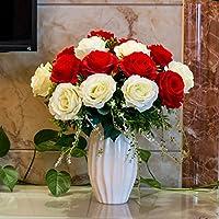 SDN2-Decorazione floreale per il tavolo soggiorno lusso stile europeo,Il corlor di rosso