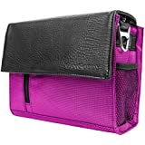 Lightweight Camera Messenger Bag With Padded Strap Purple For Fujifilm / Olympus DSLR Compact Camera