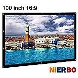 NIERBO schermo proiettore 100 pollici 16 9 schermo per proiezioni di tela portatile per l'uso esterno e per i film di Home Cinema