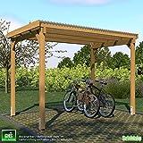 GHS Unterstand 3x2,5 m Überdachung Fahrrad + Motorrad, Gartengeräte + Gartenmöbel