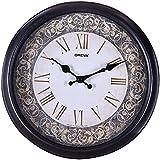 Ajanta (Oreva) Quartz Round Plastic Wall Clock (30.5 Cm X 4 Cm X 30.5 Cm, Goldsil Silver)