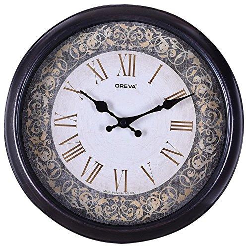 Ajanta (Oreva) Quartz Round Plastic Wall Clock (30.5 cm x 4 cm...