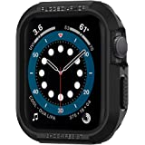 Spigen Rugged Armor Cover Case Compatible with Apple Watch Series 7 (45mm) | Series 6 | SE | Series 5 | Series 4 (44mm) - Bla