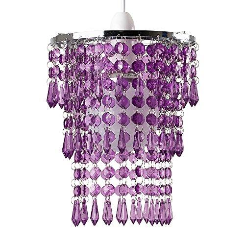 beautiful-modern-chrome-chandelier-pendant-shade-with-stunning-purple-acrylic-jewel-droplets