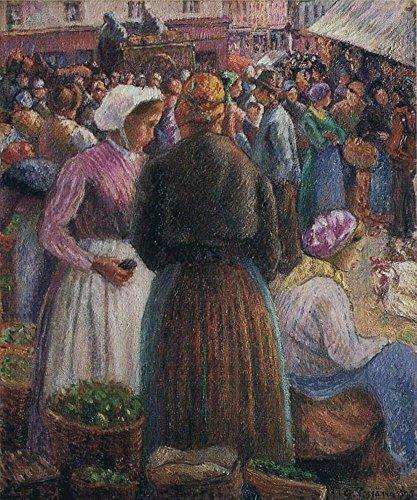 1895 Drucken (Das Museum Outlet–Der Geflügel-Markt bei Pontoise, 1895, gespannte Leinwand Galerie verpackt. 147,3x 198,1cm)