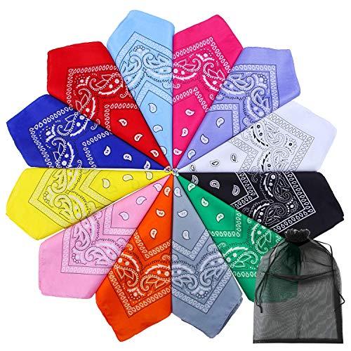 eit Bandanas Paisley Print Cowboy Bandana Taschentücher, 12 Farben Sortiert ()