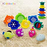 #9: Kidsbele Bath Toy Seaside Outdoor Toys For Children Beach Play Spraying Water Rubber Animals Toys Bright Color Summer Water Toy
