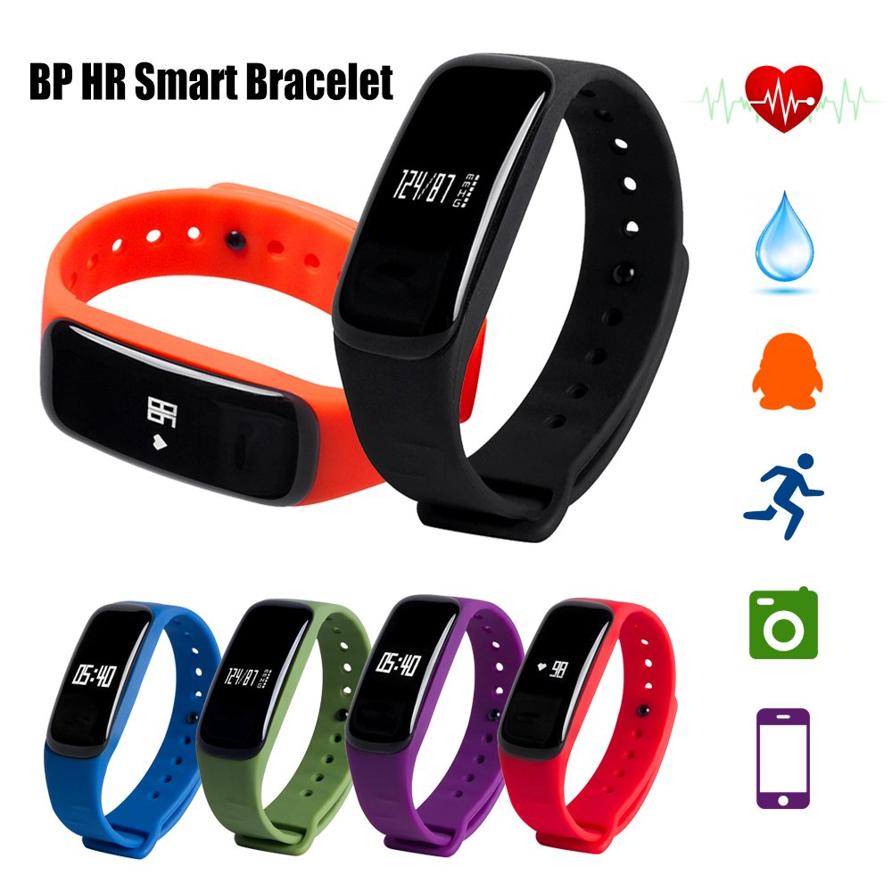 Fancy Cherry Smart Bracelet reg; M8 Bluetooth Smart Bracelet Blood Pressure Heart Rate Monitor Fitness Tracker for Android iOS Smartphones
