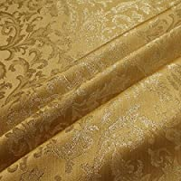 Stoff Polyester Jacquard Ornament Gold Lurex Goldbrokat Barock Rokoko 300 Cm