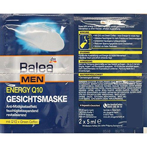 Balea MEN Energy Q10 Gesichtsmaske (2x5ml)