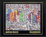 James Rizzi Its so hard to be a saint in the city Gerahmtes Bild mit Alu Rahmen schwarz 30 mm 56x71cm - Germanposters
