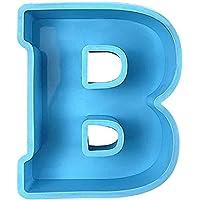 Grand moule en résine époxy alphabet, modèles d'alphabet de lettre supérieure A-Z, moule en silicone 3D pour la…