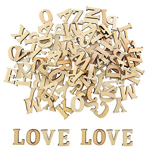 Vintage Holzbuchstaben Buchstaben aus Holz Alphabet ABC (natur ca. 200 Stück)