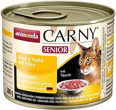 Animonda Katzenfutter Carny Senior Rind Huhn mit Käse, 6er Pack (6 x 200 g)