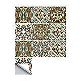 Decalcomanie delle mattonelle di parete autoadesive di stile del fiore della piastrella per pavimento del bagno 10PCS, 8x8 di pollice