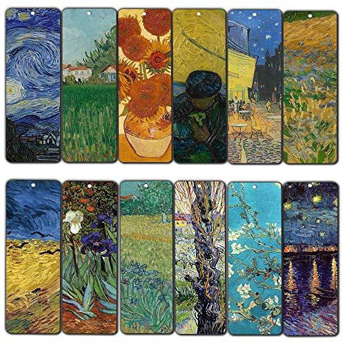 loving VINCENT Van Gogh ispirazione citazioni Bookmarker Cards (pezzi)-Cool Book classico dipinto tele Decal-calza della Befana regali per uomini donne ragazze Thanksgiving Christmas