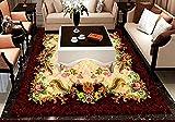 Roebin 3D Wandbild Tapete Muster Marmorboden Rutschfest Verdickt Bad Selbstklebend Malerei Wand-Aufkleber Wanddekoration 450Cmx300Cm